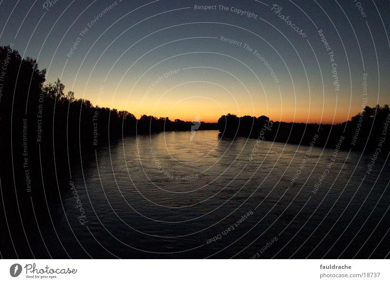 der Inn am Abend Baum Fluss Gewässer