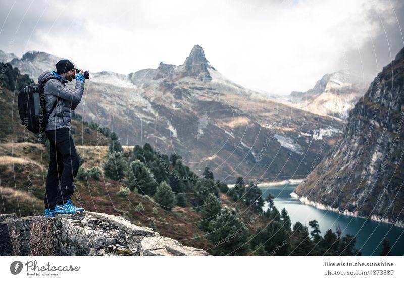 Im Fotografen- himmel Freizeit & Hobby Ferien & Urlaub & Reisen Tourismus Ausflug Abenteuer Ferne Berge u. Gebirge wandern maskulin Junger Mann Jugendliche