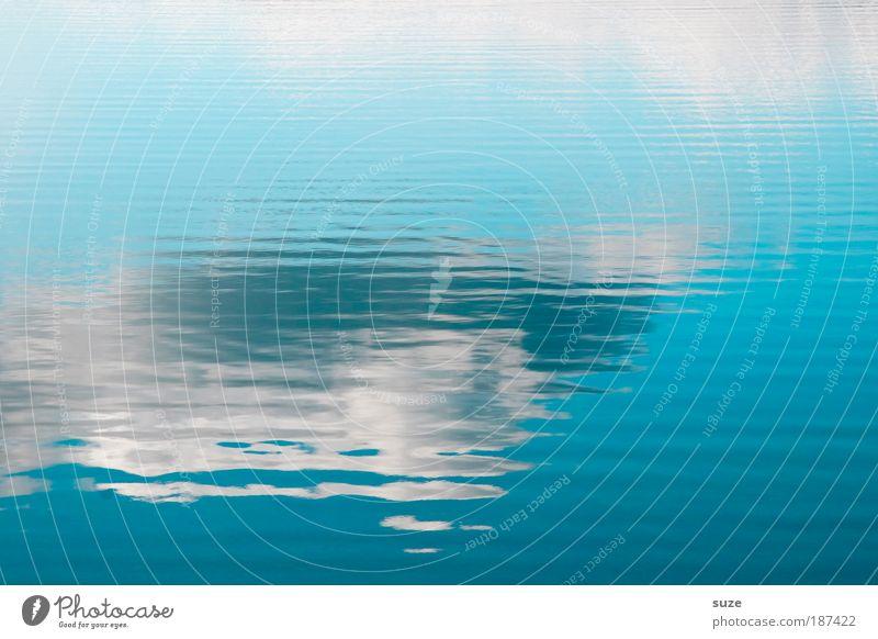 Wasserstoff Himmel weiß blau Ferien & Urlaub & Reisen Wolken kalt Freiheit träumen Linie See Kunst Wellen Hintergrundbild Ausflug Muster
