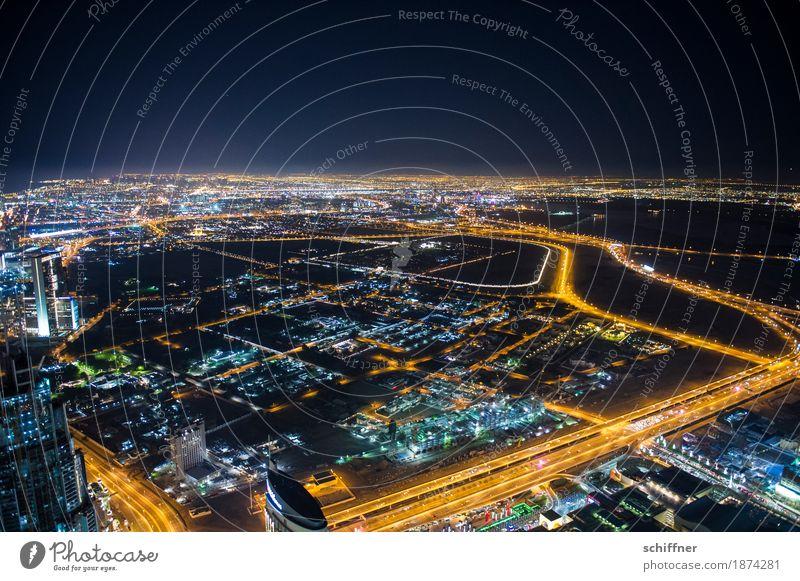 Ant-City | Weite Stadtzentrum Stadtrand Skyline bevölkert überbevölkert Haus Hochhaus Bauwerk Gebäude außergewöhnlich dunkel hoch Ferne Vogelperspektive Licht