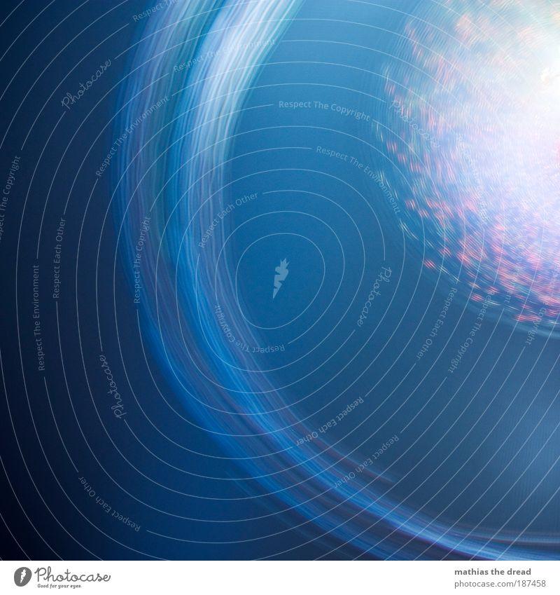 KEEPS ON TURNING blau schön Winter Bewegung hell glänzend ästhetisch Geschwindigkeit fahren rund leuchten drehen Jahrmarkt Dynamik abstrakt