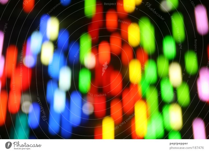 Lichtregen schön Kunst außergewöhnlich Fassade leuchten verrückt Technik & Technologie trendy skurril Künstler Neonlicht Kunstwerk mehrfarbig High-Tech Muster