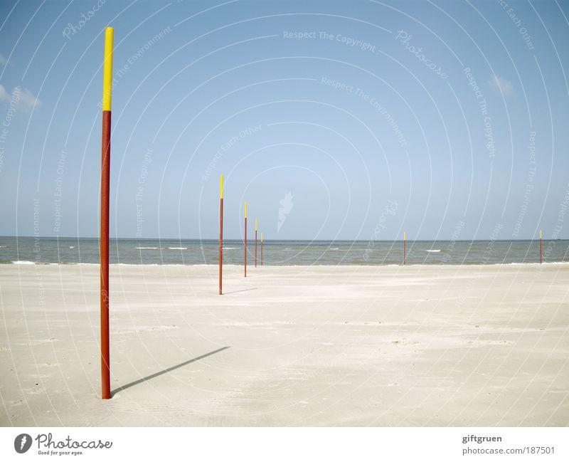 winterpause Himmel Sonne Meer Sommer Strand Ferien & Urlaub & Reisen ruhig Ferne Erholung Freiheit Landschaft Zufriedenheit Küste Horizont Ausflug ästhetisch