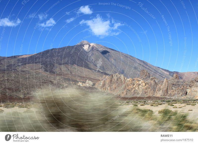 Der höchste Berg Spaniens Natur Landschaft Erde Wetter Schönes Wetter Felsen Berge u. Gebirge Gipfel Vulkan Teide Wahrzeichen groß Unendlichkeit natürlich