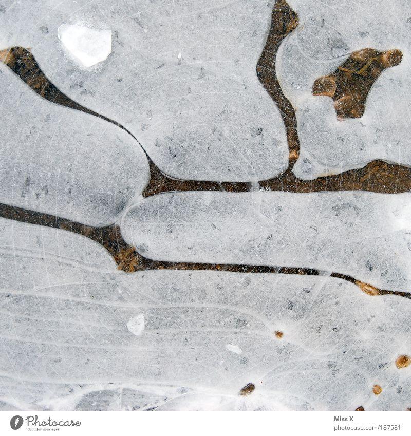 Lavalampe II Winter kalt Schnee Eis Lampe Kreis Frost Pfütze Eisscholle
