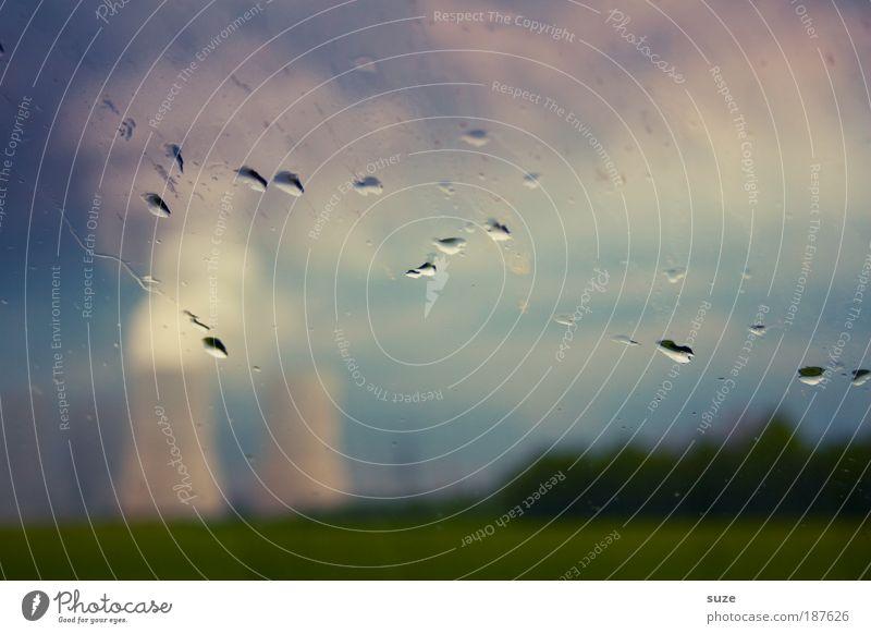 Umweltzone Pflanze Wolken Wiese Denken Feld dreckig Wetter Umwelt Wassertropfen Industrie Energiewirtschaft Zukunft Industriefotografie Fabrik Tropfen Wandel & Veränderung