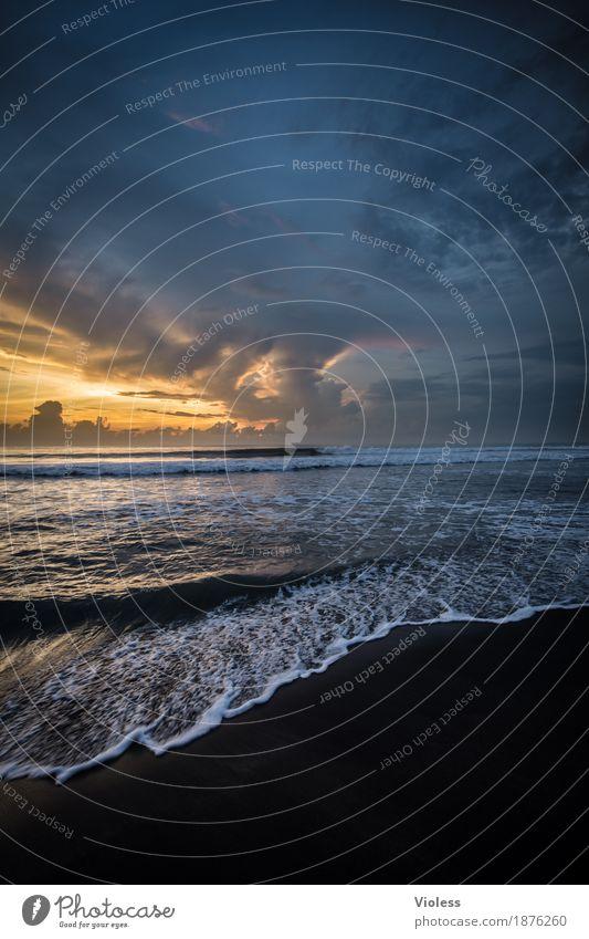 Prima Klima   am Meer Abenteuer Ferne Freiheit Expedition Sommer Sonne Strand Wellen Umwelt Natur Sand Wasser Himmel Wolken Sonnenlicht Küste entdecken Erholung