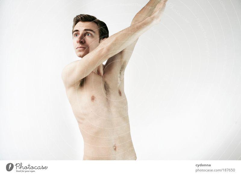 Statue Mann Jugendliche schön ruhig Erotik Leben nackt Stil Bewegung Kraft Gesundheit Körper Haut Erwachsene elegant
