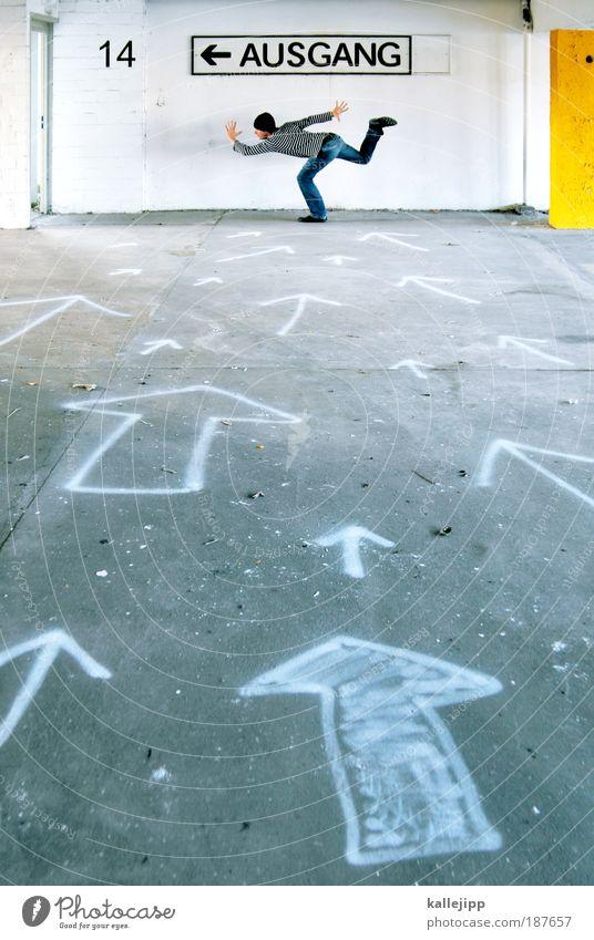 2009 Lifestyle Mensch Mann Erwachsene Leben Verkehr Verkehrswege Personenverkehr Wege & Pfade Zeichen Schriftzeichen Verkehrszeichen Graffiti Pfeil