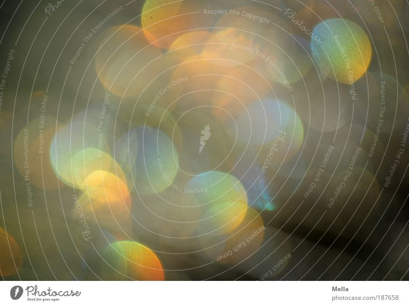 Ist denn schon Silvester? Feste & Feiern glänzend Kreis Dekoration & Verzierung leuchten Licht Silvester u. Neujahr Punkt Unschärfe Lichtbrechung abstrakt
