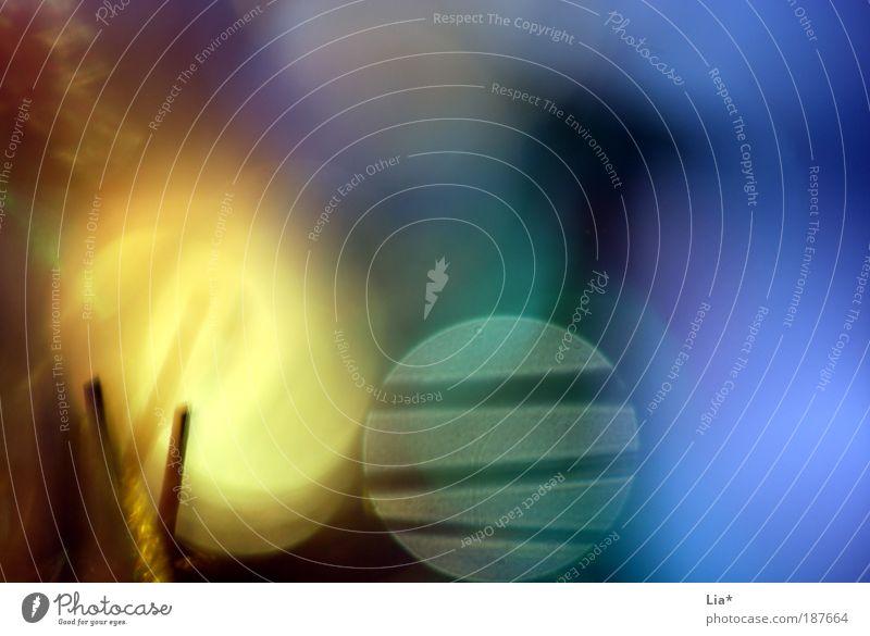 christmas lights and stripes blau gelb Hintergrundbild gold leuchten abstrakt Unschärfe Lichtspiel Lichtpunkt