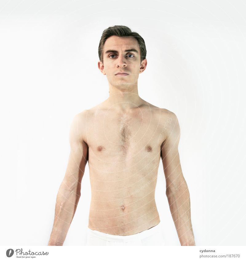 Statue I Mensch Mann Jugendliche schön ruhig Erotik Leben Erholung nackt Gefühle Stil Kraft Gesundheit Körper Haut