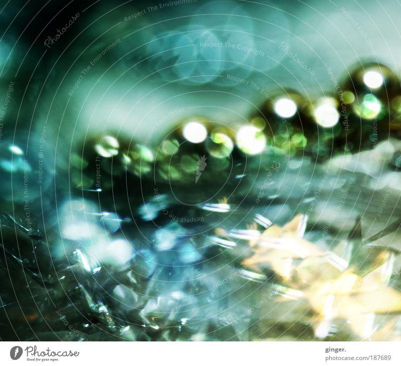 liquescent luminousness elegant Stil Metall Kunststoff Kugel glänzend leuchten fließen Dekoration & Verzierung grün-blau gold silber Weihnachten & Advent
