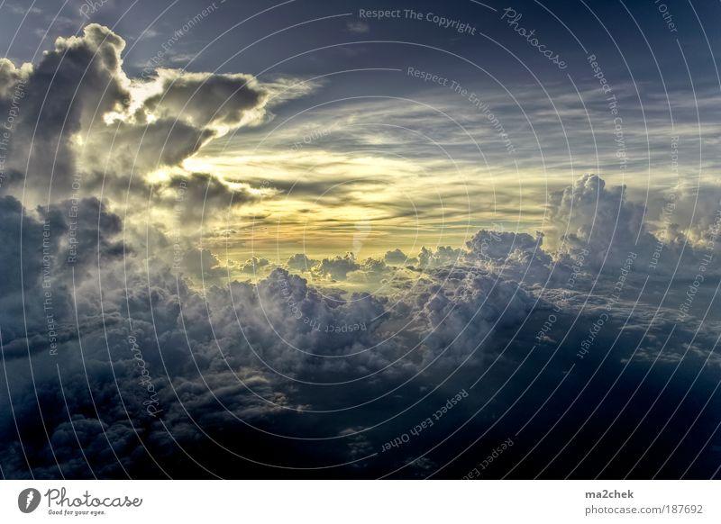 sky city Natur Landschaft Urelemente Luft Himmel Wolken Gewitterwolken Sonnenaufgang Sonnenuntergang Klima Wetter Einsamkeit Schüchternheit Respekt Thailand