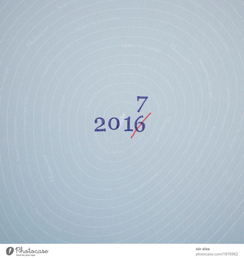 in drei Wochen blau Zeit Feste & Feiern Zukunft Vergänglichkeit Zeichen Ziffern & Zahlen Vergangenheit Silvester u. Neujahr Neuanfang Wechseln 2016 2017