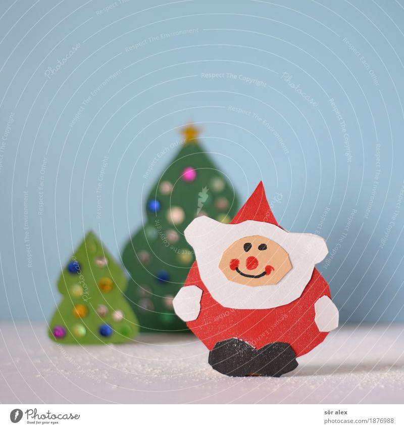 schöne Weihnachten Weihnachten & Advent blau grün rot Freude Feste & Feiern Zufriedenheit Fröhlichkeit Lebensfreude Postkarte Weihnachtsbaum Vorfreude