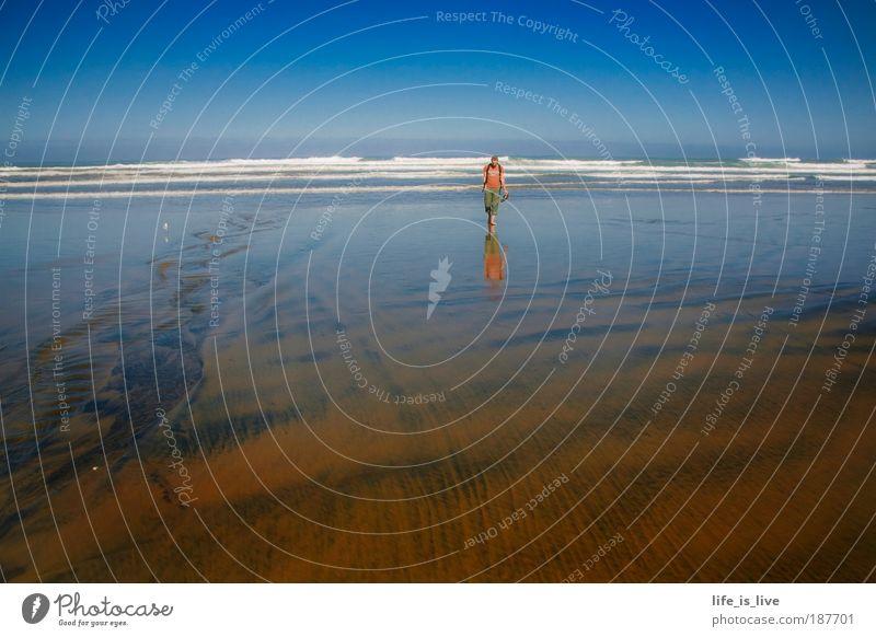 90 mile beach Natur Meer Strand ruhig Einsamkeit Ferne Landschaft Freiheit Sand Küste Wellen Zufriedenheit gehen Romantik Mensch Ferien & Urlaub & Reisen