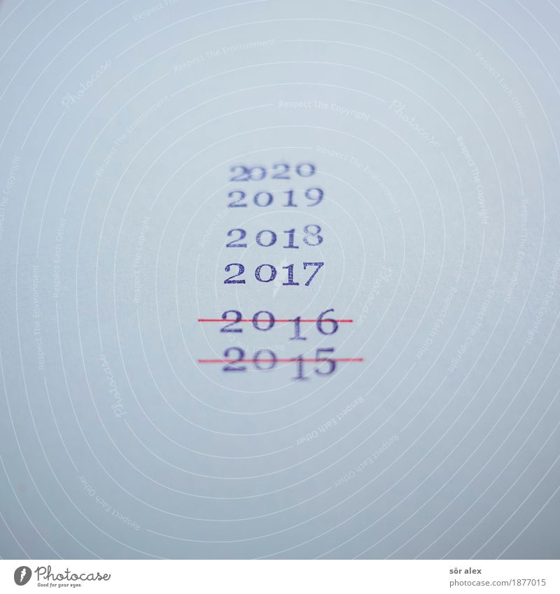 Im laufe der Zeit alt blau Senior Feste & Feiern Zukunft Vergänglichkeit Zeichen Ziffern & Zahlen Vergangenheit Silvester u. Neujahr Jahreszahl Lebensalter 2017