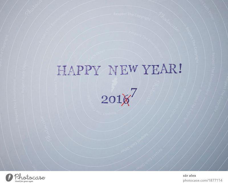 Weiter geht's Entertainment Party Veranstaltung ausgehen Feste & Feiern Silvester u. Neujahr Schriftzeichen blau rot Freude Lebensfreude Optimismus Perspektive