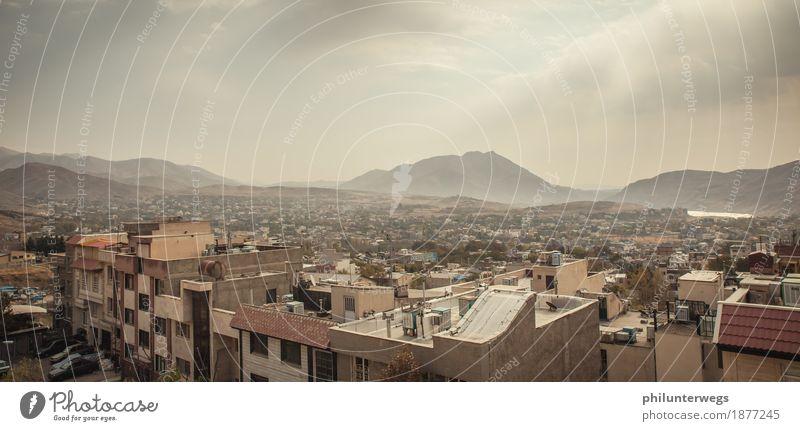 Über iranischen Dächern Ferien & Urlaub & Reisen Stadt Haus Ferne Architektur Wand Gebäude Mauer Freiheit Tourismus Fassade Ausflug authentisch Abenteuer