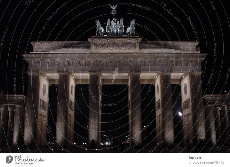 Brandenburger Tor Nacht Architektur Berlin Hauptstadt