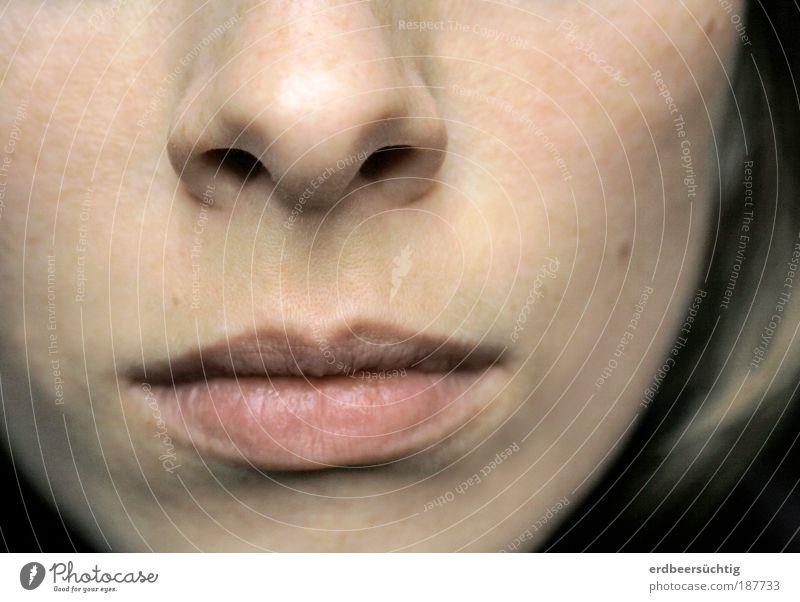 stillschweigen Jugendliche Junge Frau 18-30 Jahre Gesicht Erwachsene Leben feminin Gefühle Haare & Frisuren Denken Kopf Paar Stimmung Haut Mund Kommunizieren