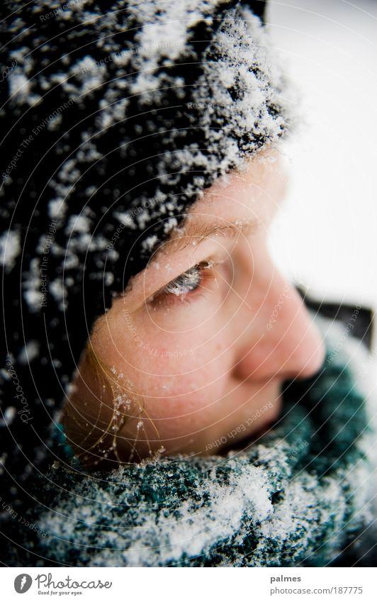 Schneegedanken Vol.2 Mensch Jugendliche Gesicht Erwachsene Auge kalt feminin Haare & Frisuren Kopf blond Haut natürlich Nase Junge Frau 18-30 Jahre Mütze
