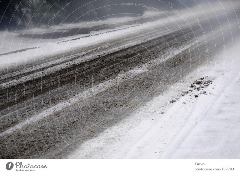 Allen eine gute Fahrt, freie Straßen und klare Sicht! Winter Umwelt Schnee Wege & Pfade Eis Wetter Nebel Verkehr Frost Sicherheit Bürgersteig fahren