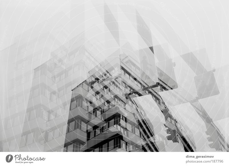 BOGEN Design Haus Hausbau Fabrik Technik & Technologie High-Tech Traumhaus Industrieanlage grau schwarz silber weiß Schwarzweißfoto Außenaufnahme Experiment Tag