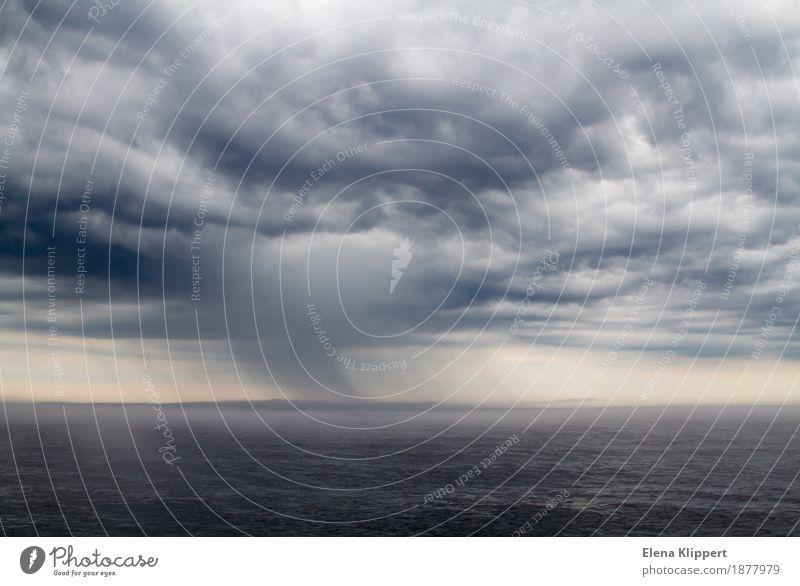 Das Unwetter auf Ladoga-See in Russland Umwelt Natur Landschaft Wasser Himmel Wolken Gewitterwolken Horizont Frühling Sommer Herbst Wetter schlechtes Wetter