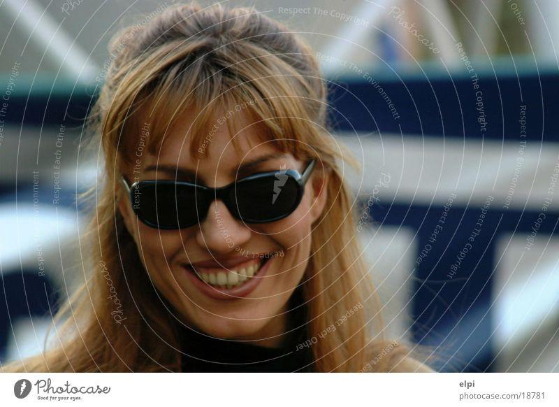Lächeln Frau Gesicht Brille