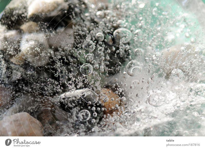 Eiszeit Natur Urelemente Luft Wasser Winter Frost Stein frieren glänzend kalt einzigartig rein Umwelt Wandel & Veränderung Zeit Luftblase gefroren Experiment