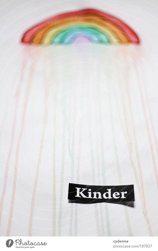 Kinder des Regenbogens Freude Leben Kindheit Freizeit & Hobby Schriftzeichen Perspektive Zukunft Wandel & Veränderung Kommunizieren Vergänglichkeit Bildung