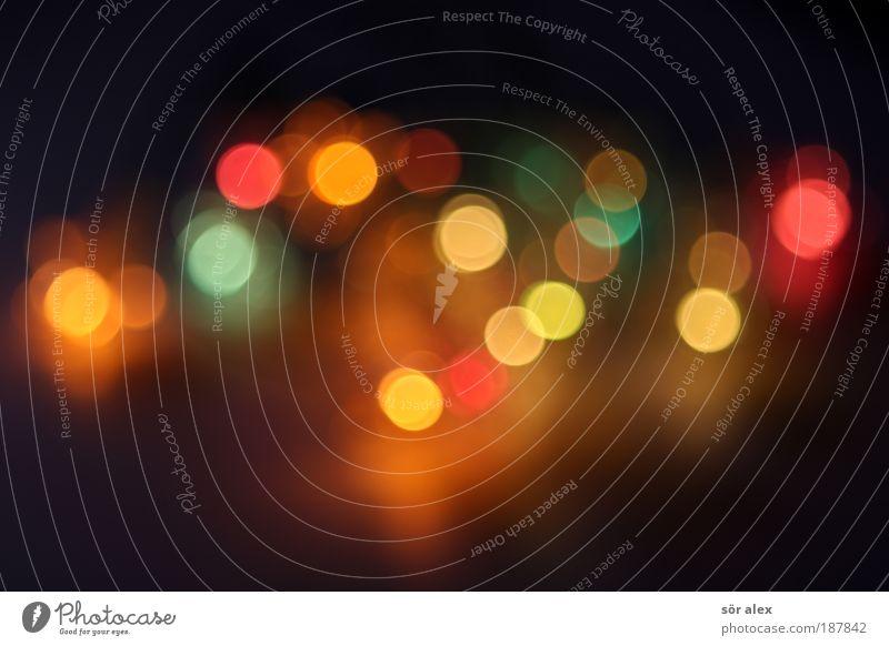 schön bunt blau grün rot Freude schwarz gelb Lampe glänzend gold Energie frisch Fröhlichkeit leuchten Lichtspiel Lichtpunkt Lichterkette