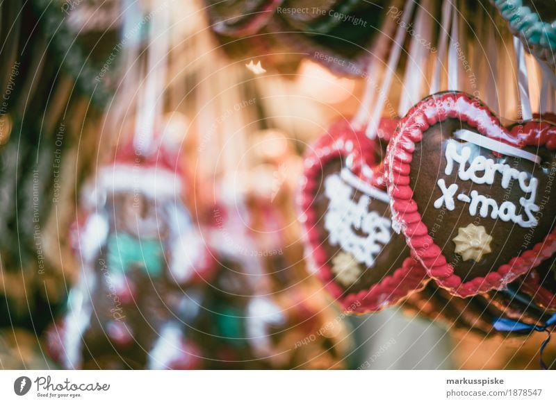 Merry X-mas Lebkuchen Herz Weihnachtsmarkt Ferien & Urlaub & Reisen Weihnachten & Advent Winter Essen Gefühle Lifestyle Schnee Lebensmittel Feste & Feiern