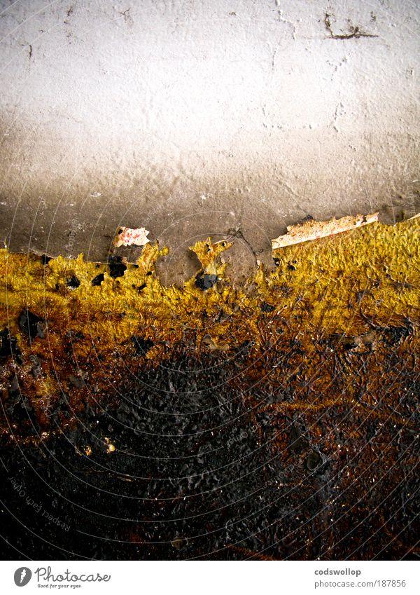 middangeard schwarz Wand Mauer Landschaft gold Horizont Fassade abstrakt
