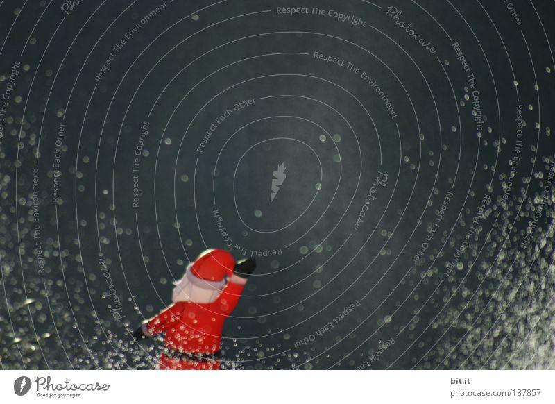 FROHE WEIHNACHTEN !! Weihnachten & Advent Wasser rot Winter Feste & Feiern klein Wassertropfen Tropfen Weihnachtsmann außergewöhnlich Dynamik
