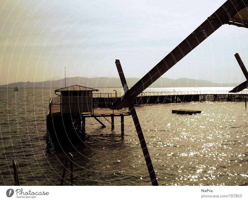 Sommerzeit Natur Wasser Himmel Sonne Ferien & Urlaub & Reisen ruhig Haus Ferne Erholung Freiheit Landschaft Luft Wellen Ausflug