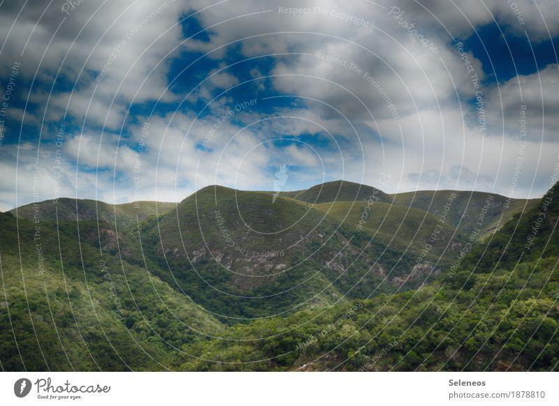 Schöne Aussicht Himmel Natur Ferien & Urlaub & Reisen Landschaft Erholung Wolken ruhig Ferne Berge u. Gebirge Umwelt natürlich Freiheit Tourismus Horizont