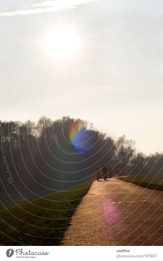Osterspaziergang Natur Wiese Umwelt Landschaft Park Feld laufen Schönes Wetter