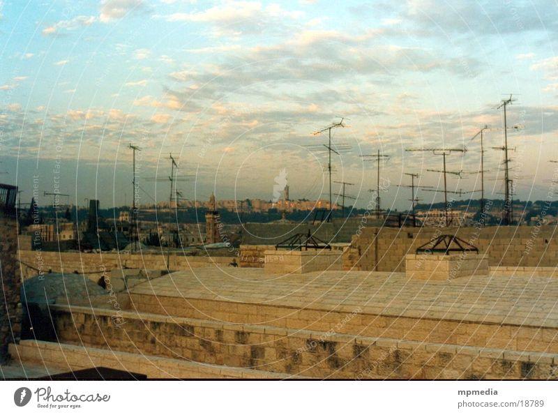 Dächer Jerusalems Erfolg Dach Antenne Israel Asien