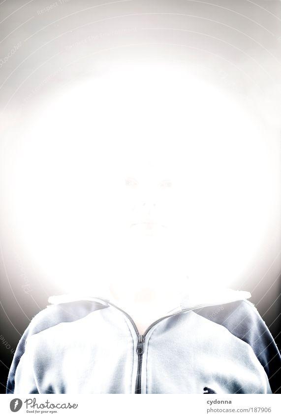 Mondgesicht Mensch Gesicht Kopf Religion & Glaube Lampe Zeit Energie ästhetisch Zukunft Kreis rund einzigartig Unendlichkeit Zeichen Kreativität Jacke