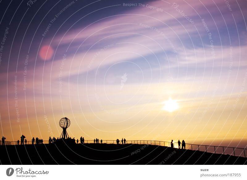 Sonnenstunde Mensch Natur Himmel Sonne Meer blau Ferien & Urlaub & Reisen kalt Freiheit Landschaft Küste Umwelt frei Felsen Europa Tourismus