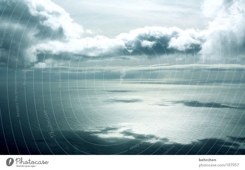 neues (jahr) entdecken Himmel Natur Wasser Ferien & Urlaub & Reisen Meer Wolken ruhig Ferne Freiheit Glück Küste Wellen Zufriedenheit Kraft Ausflug Flugzeug