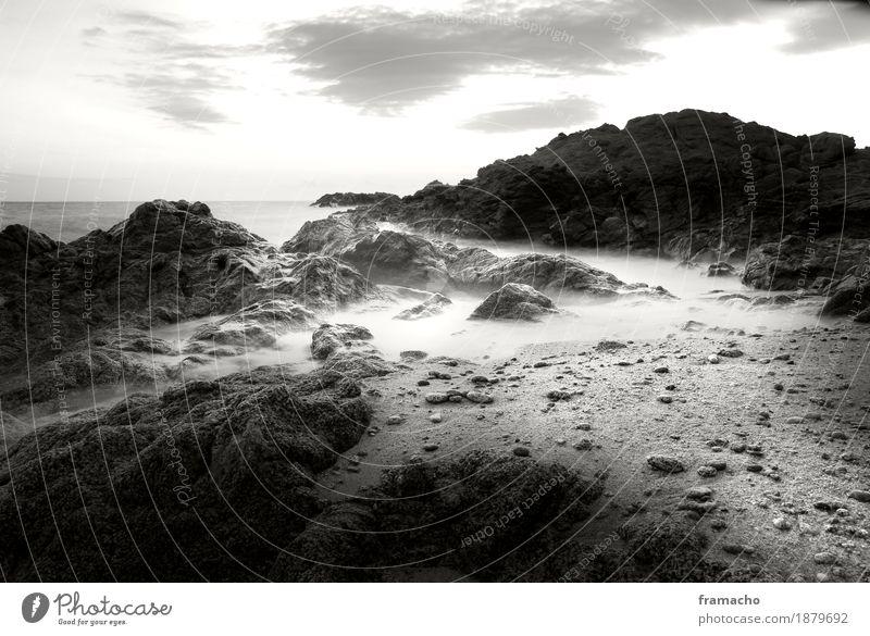 Felsen-1 elegant ruhig Meditation Ferne Freiheit Strand Meer Insel Umwelt Natur Landschaft Urelemente Sand Wasser Himmel Horizont Schönes Wetter Wellen Küste