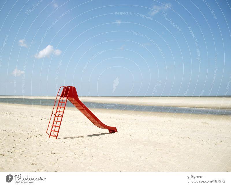 guten rutsch! Wasser Himmel Sonne Meer rot Sommer Strand Ferien & Urlaub & Reisen Ferne Spielen Freiheit Sand Zufriedenheit Bewegung Küste Natur