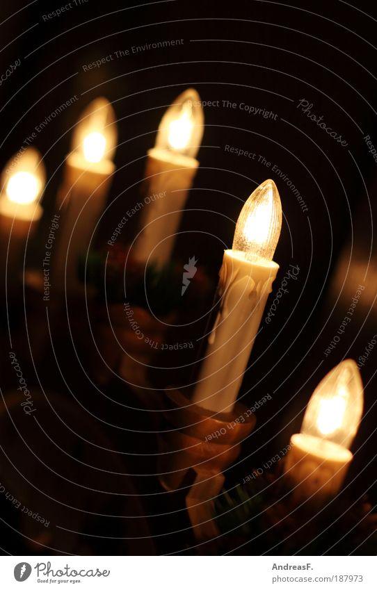 Bis zum nächsten Jahr! Weihnachten & Advent Fenster Wohnung Kerze Dekoration & Verzierung Häusliches Leben leuchten Glühbirne Weihnachtsdekoration Lichterkette