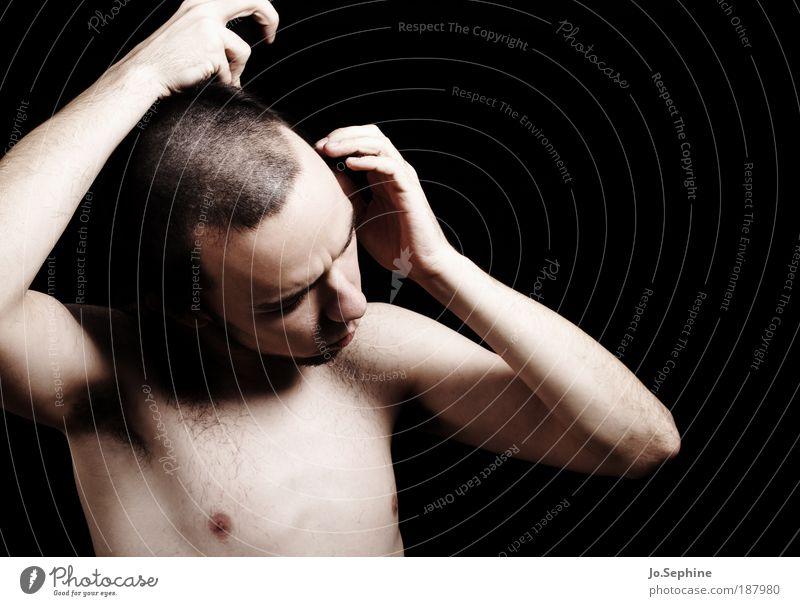 there's no night out in the jail Mensch Jugendliche Erwachsene nackt Haare & Frisuren maskulin Wandel & Veränderung 18-30 Jahre nachdenklich Junger Mann Körperpflege kurzhaarig Rasieren Mann Denken