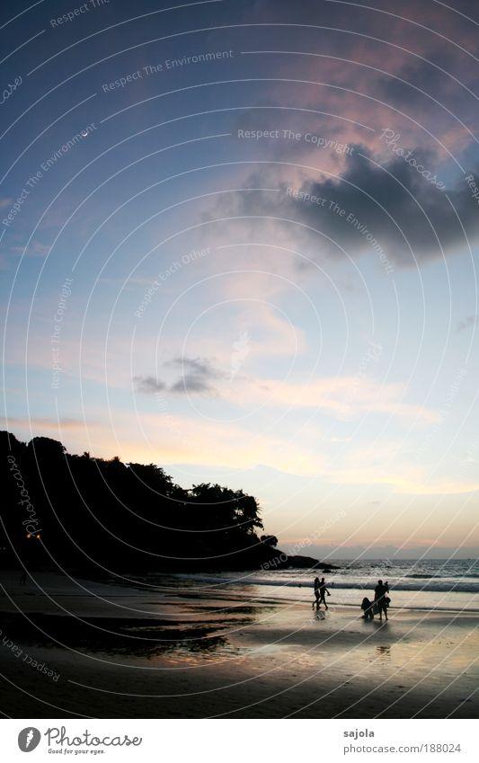 on the beach Mensch Umwelt Natur Landschaft Urelemente Sand Wasser Himmel Wolken Horizont Küste Strand Meer Insel Phuket Thailand Asien Südostasien gehen