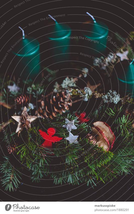 adventskranz vorweihnachtszeit Weihnachten & Advent Dekoration & Verzierung retro Moos Ornament